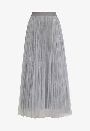 GLITTER PLEATED OVERLAY SKIRT - Jupe trapèze - mid grey