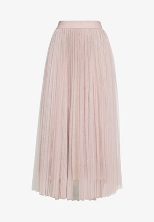 GLITTER PLEATED OVERLAY SKIRT - A-linjekjol - pale pink