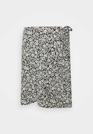 LULU FLORAL MINI WRAP SKIRT - A-snit nederdel/ A-formede nederdele - black