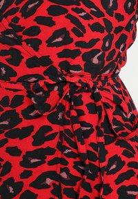 New Look - ALBIE ANIMAL MIDI WRAP  - Vestito estivo - red pattern - 5