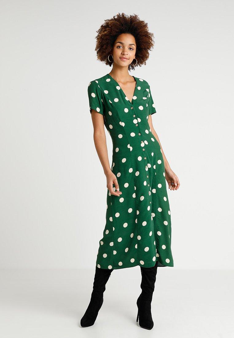 New Look - GEMMA SPOT MIDI DRESS - Maxi dress - green
