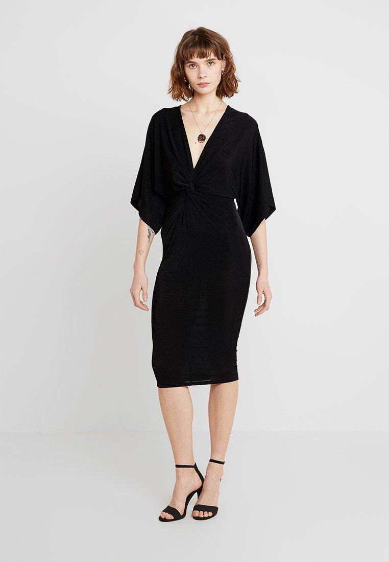 New Look - GO SLINKY KIMONO MINI DRESS - Shift dress - black