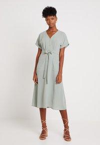 New Look - WOODEN - Shirt dress - teal - 1