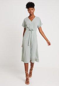 New Look - WOODEN - Shirt dress - teal - 0