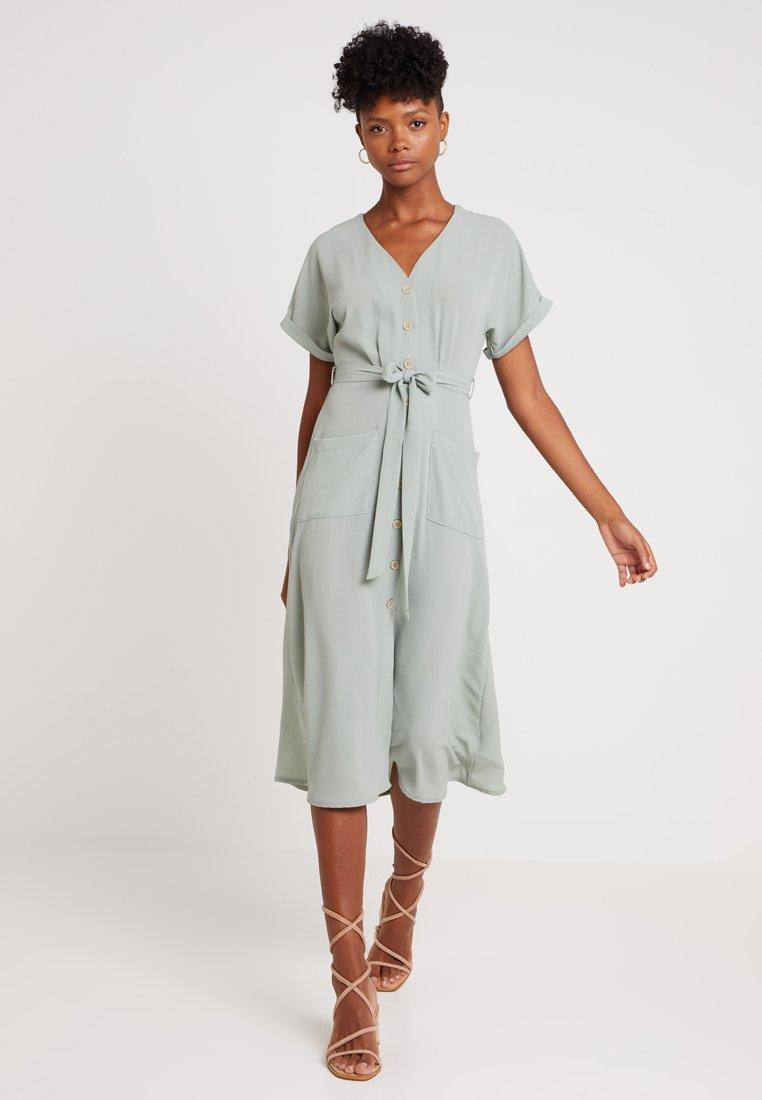 New Look - WOODEN - Shirt dress - teal