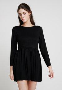 New Look - PLAIN SMOCK - Jersey dress - black - 0