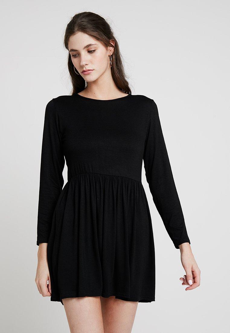 New Look - PLAIN SMOCK - Jersey dress - black