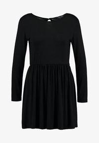 New Look - PLAIN SMOCK - Jersey dress - black - 3