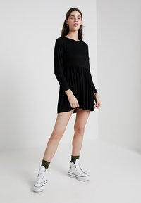 New Look - PLAIN SMOCK - Jersey dress - black - 1