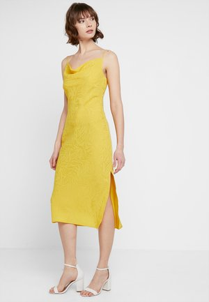 COWL MIDI - Cocktail dress / Party dress - yellow
