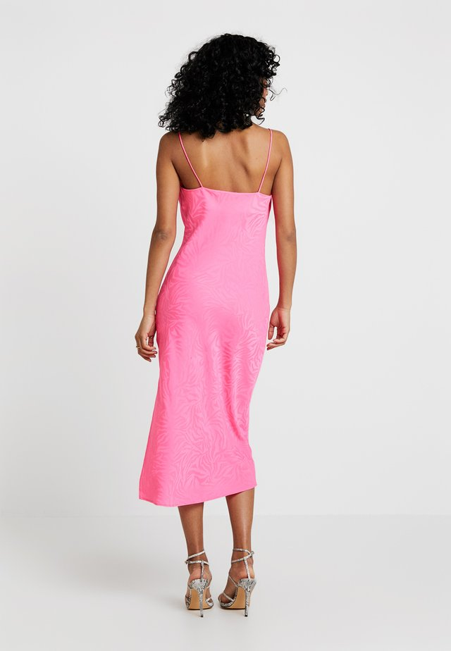 COWL MIDI - Cocktail dress / Party dress - knockout pink