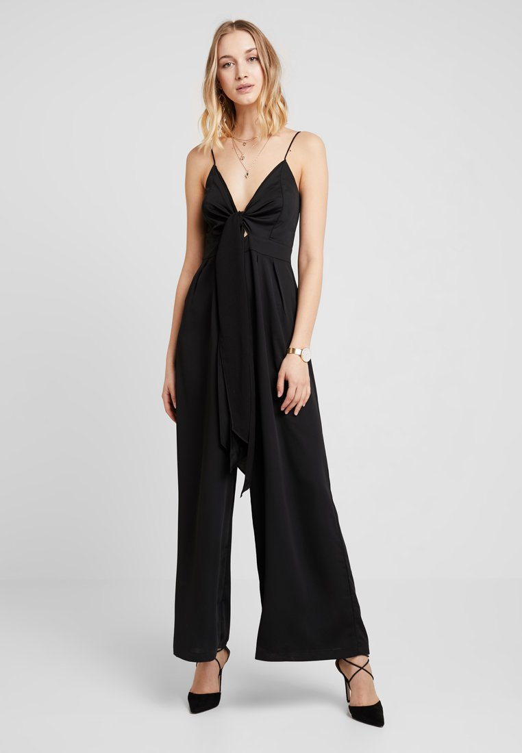 New Look - TIE FRONT  - Jumpsuit - black