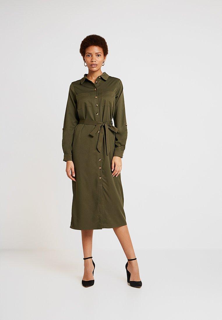 New Look - EXCLUSIVE BUTTON THROUGH DRESS - Košilové šaty - dark green