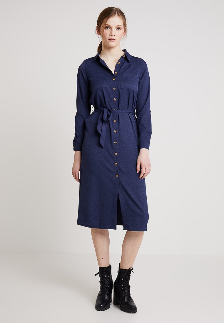 New Look - EXCLUSIVE BUTTON THROUGH DRESS - Maxi dress - navy