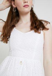New Look - BRODERIE FRONT MIDI - Vestido informal - white - 5