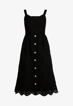 BRODERIE FRONT MIDI - Denní šaty - black