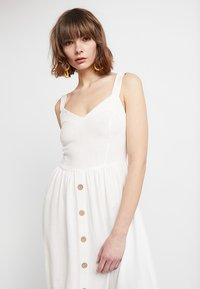 New Look - BUTTON FRONT - Freizeitkleid - white - 4