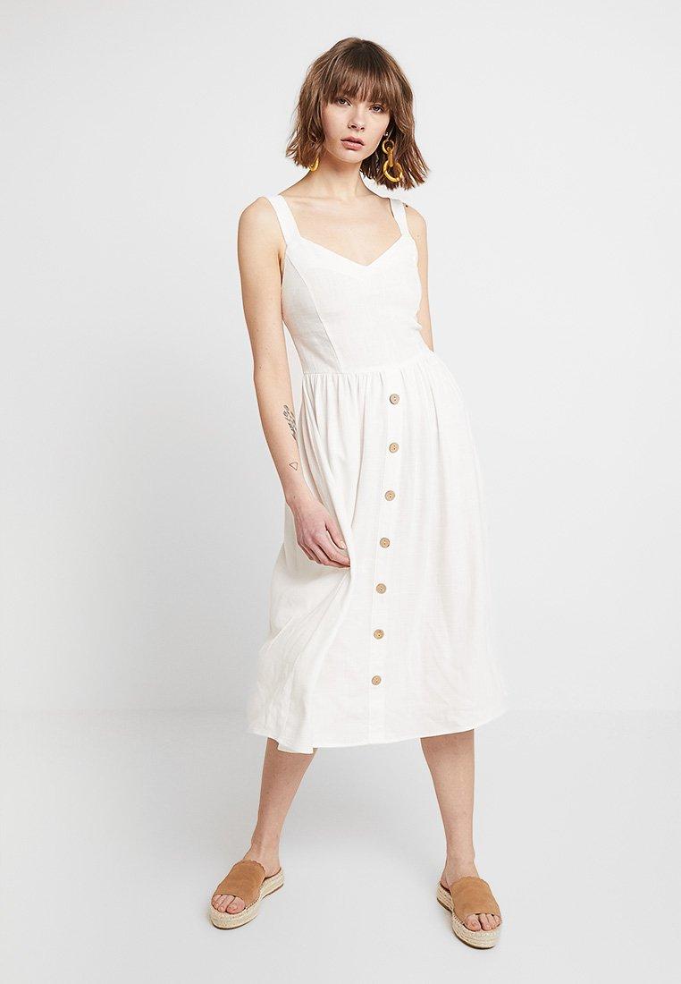 New Look - BUTTON FRONT - Korte jurk - white
