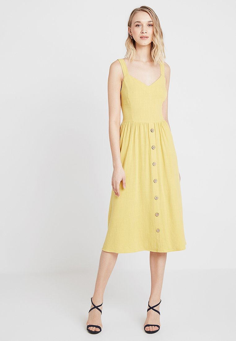 New Look - BUTTON FRONT - Day dress - yellow spice