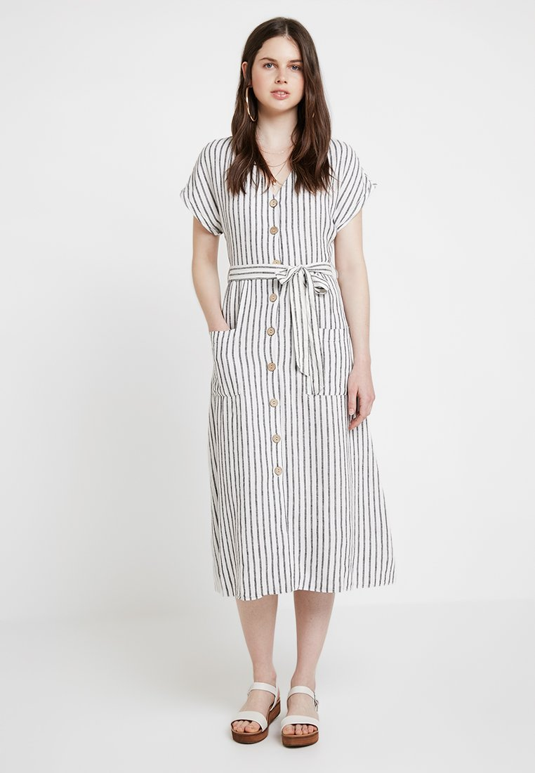 New Look - STRIPE MARGE MIDI - Maxikleid - cream
