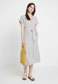 New Look - STRIPE MARGE MIDI - Maxikleid - cream - 1