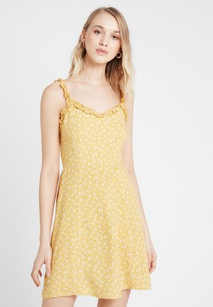 PRINT RUFFLE EDGE SUNDRESS - Robe d'été - yellow