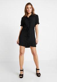 New Look - DRAWSTRING WAIST DRESS - Blousejurk - black - 2