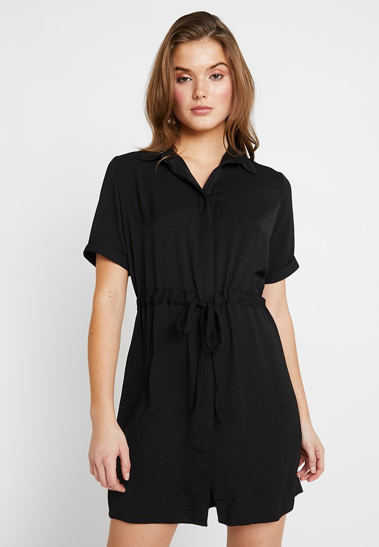 New Look - DRAWSTRING WAIST DRESS - Blousejurk - black