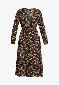 New Look - PENNY DITSY WRAP - Denní šaty - black - 5