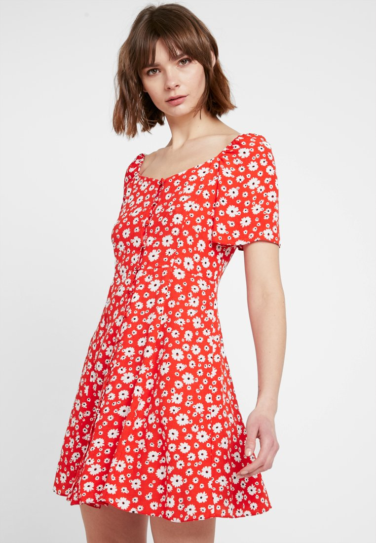New Look - Shirt dress - red