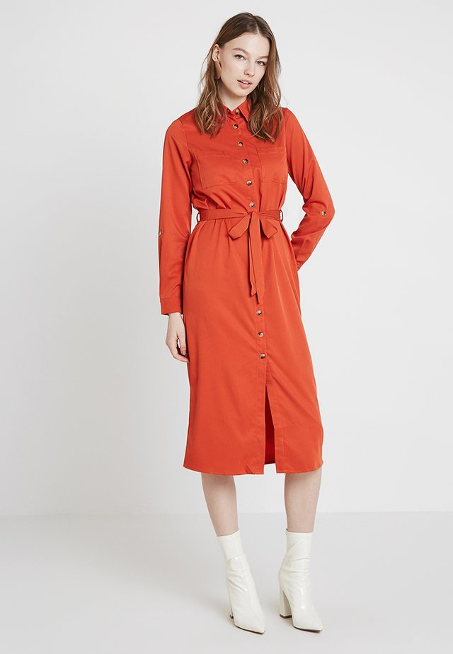 MIDI DRESS - Blousejurk - rust