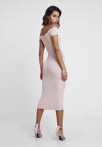 New Look - FRILL EDGE POPPER BARDOT - Denní šaty - nude - 2