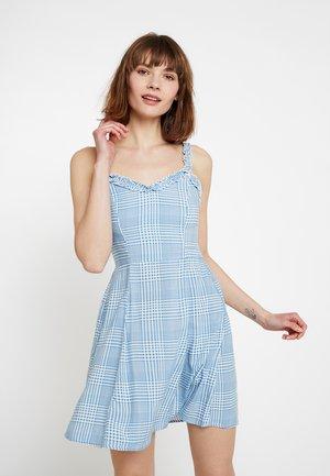 RUFFLE EDGE SUNDRESS - Denní šaty - blue