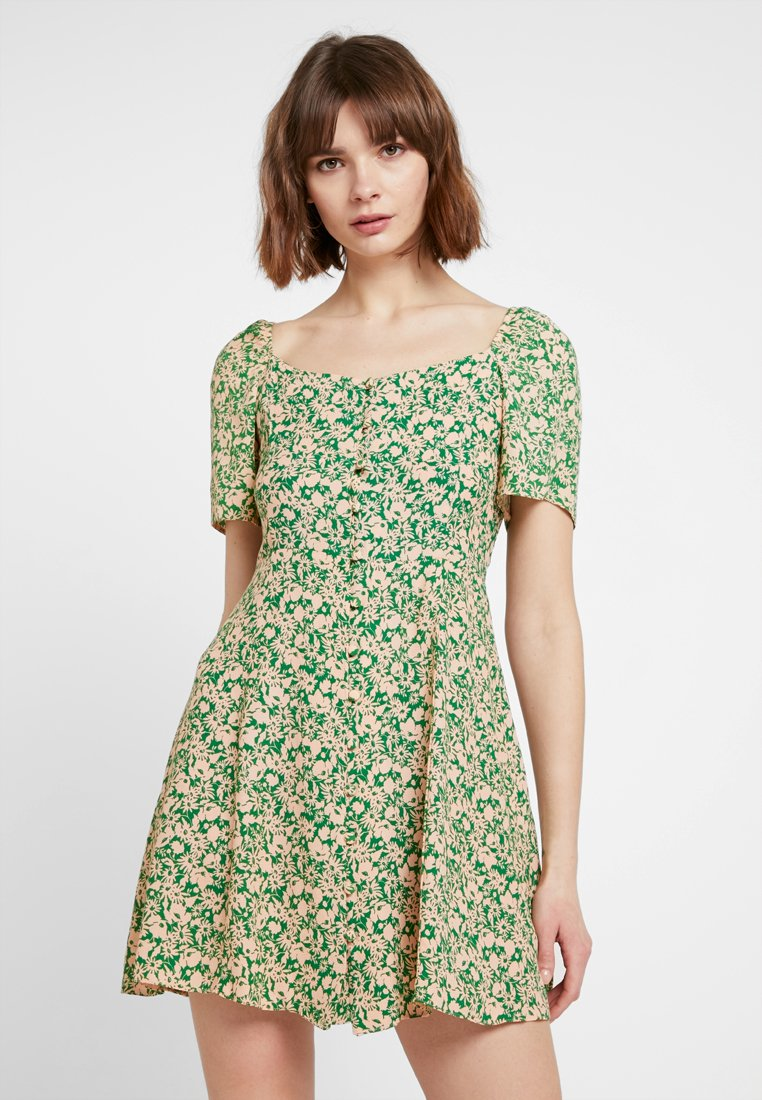 New Look - PRINT - Skjortekjole - green