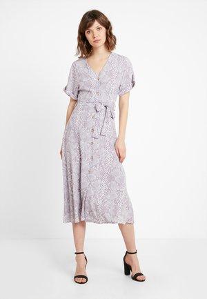 PRINT THRU MIDI DRESS - Abito a camicia - grey