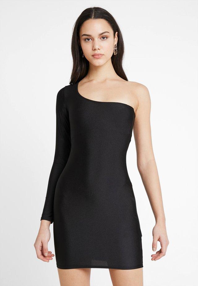 GO ONE SHOULDER BODYCON DRESS - Shift dress - black