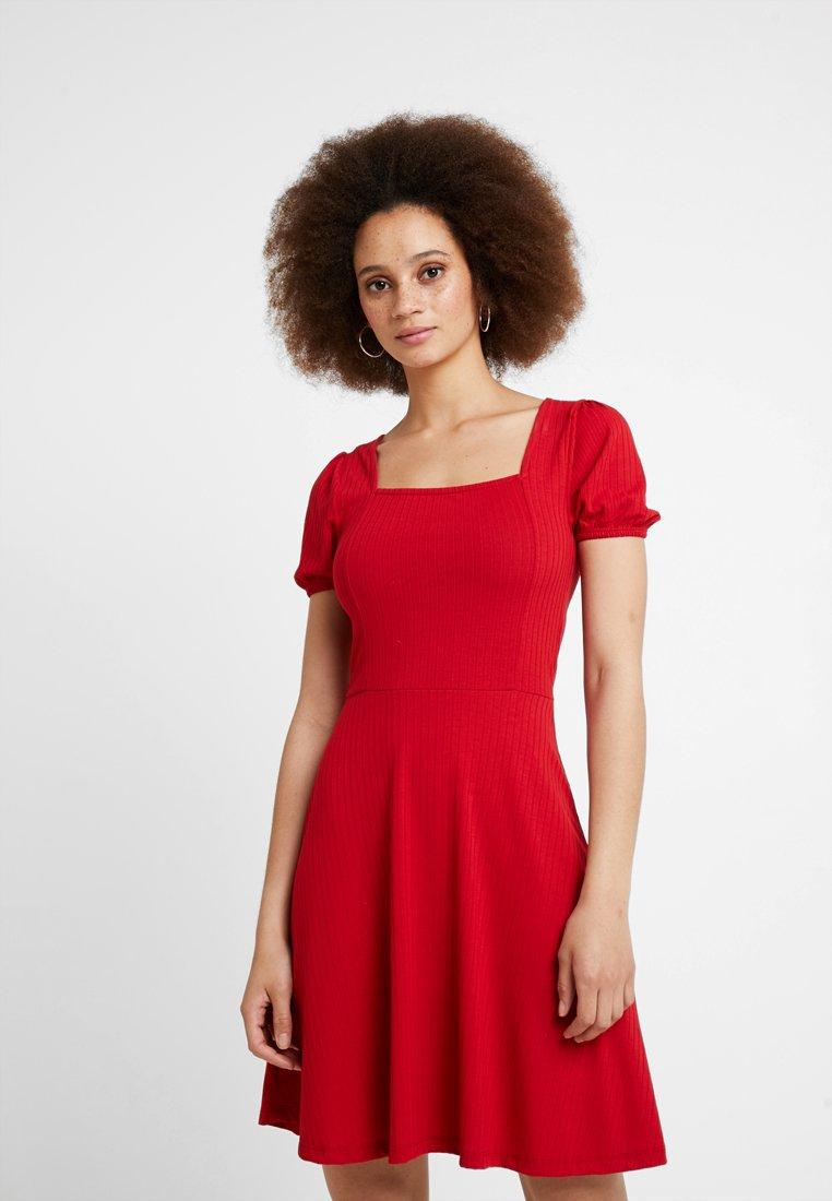 New Look - SKATER - Jerseykjoler - red