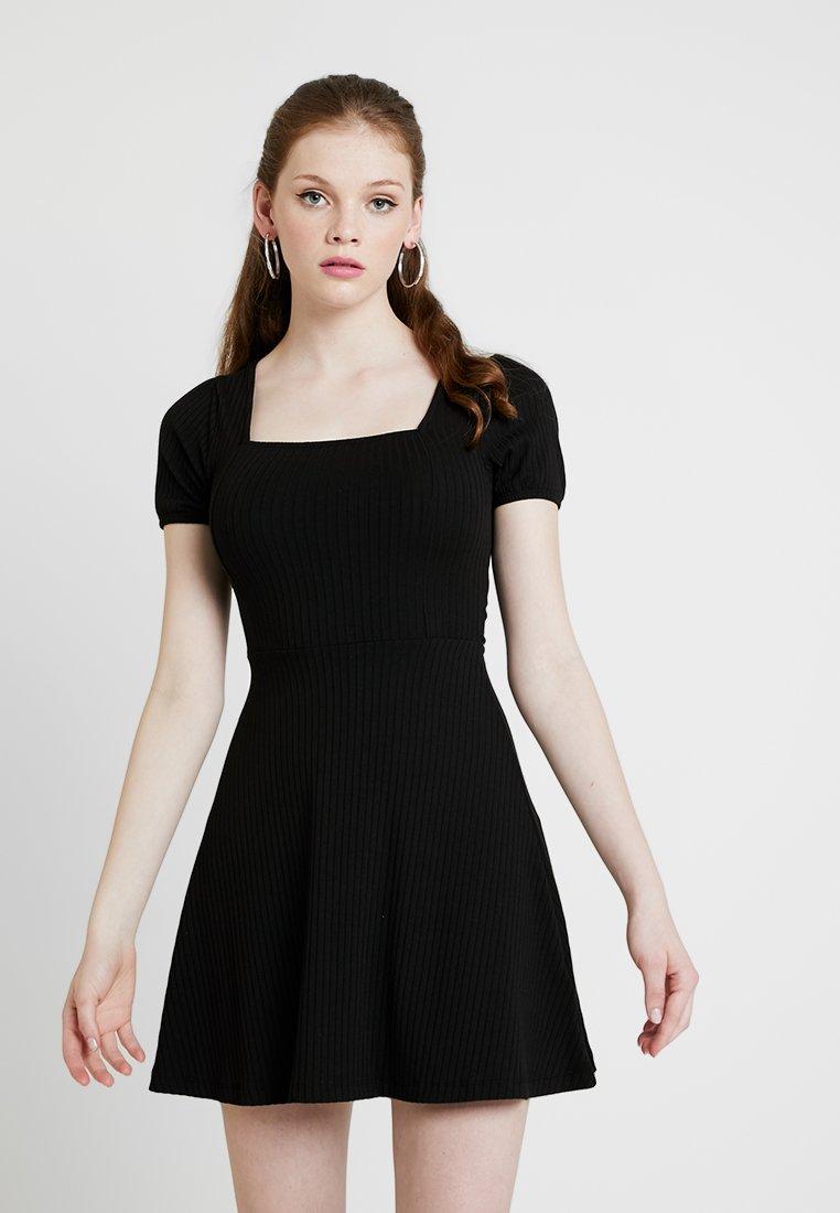 New Look - SKATER - Vestito di maglina - black
