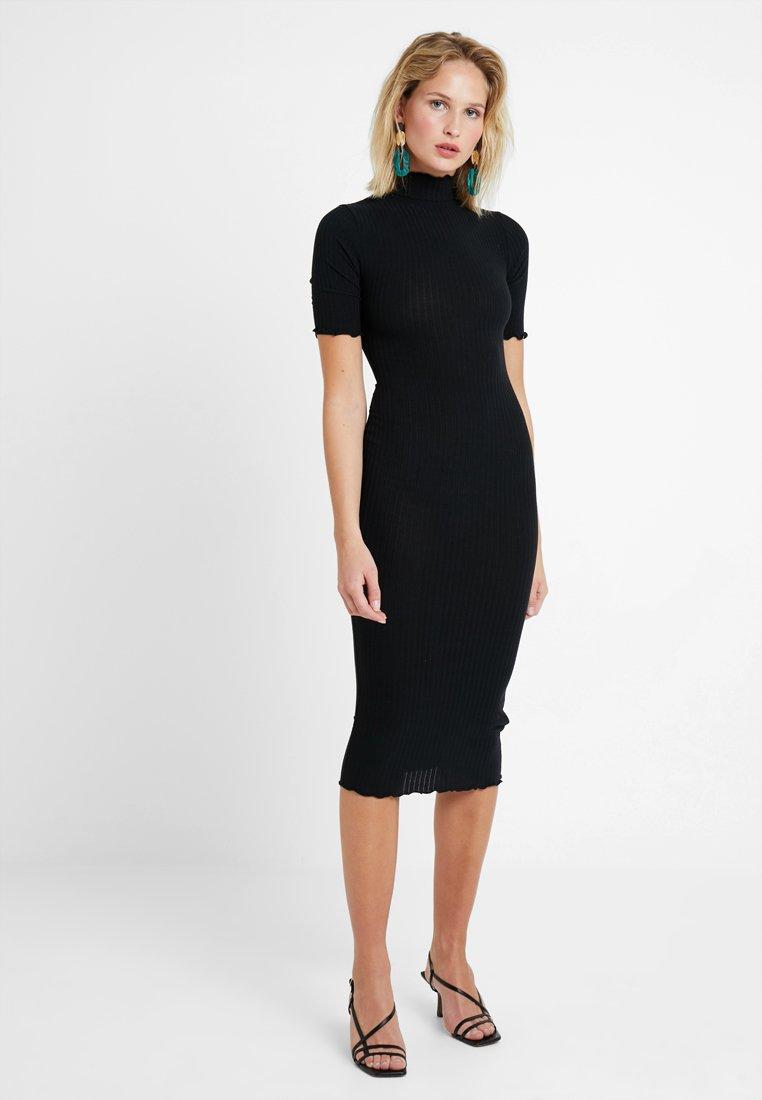 New Look - LETTICE EDGE TURTLENECK - Etui-jurk - black