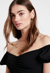 New Look - GO RUCHED FRONT MILKMAID - Robe en jersey - black - 4