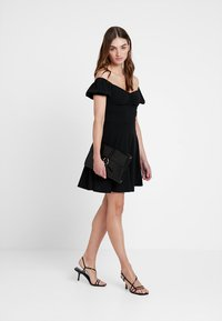 New Look - GO RUCHED FRONT MILKMAID - Robe en jersey - black - 2