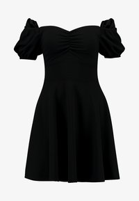 New Look - GO RUCHED FRONT MILKMAID - Robe en jersey - black - 5