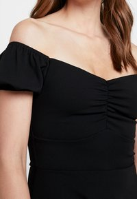 New Look - GO RUCHED FRONT MILKMAID - Robe en jersey - black - 6