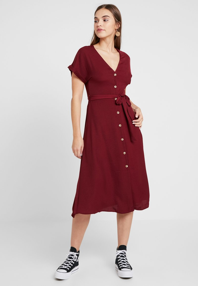 New Look - Skjortekjole - dark burgundy