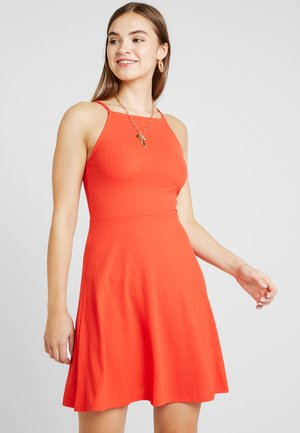 WAFFLE HIGH SKATER  - Žerzejové šaty - red