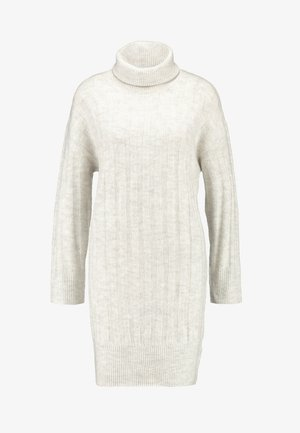 WIDE ROLL NECK DRESS - Jumper dress - pale grey