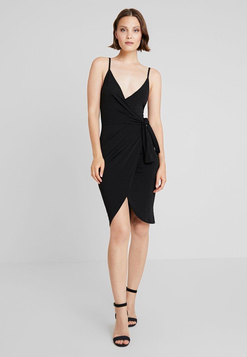 New Look - TIE SIDE WRAP STRAPPY DRESS - Day dress - black