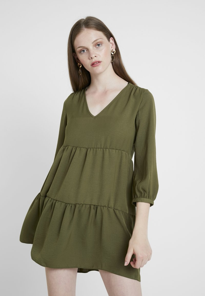 New Look - TIER DRESS - Day dress - khaki