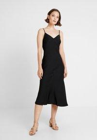 New Look - BLISS SLIP DRESS - Maxi dress - black - 0