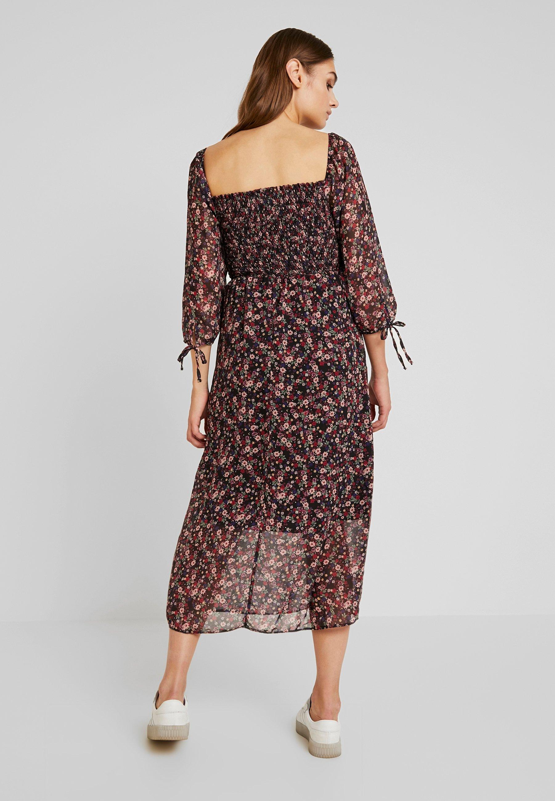 New Look Robe longue - noir black pattern